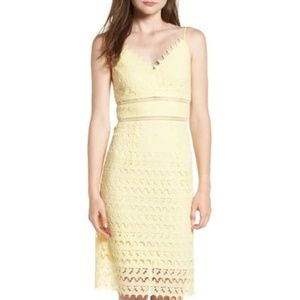 Soprano Light Yellow Lace Dress